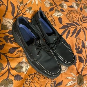 Sperry Black Dress Shoes Size 11 1/2